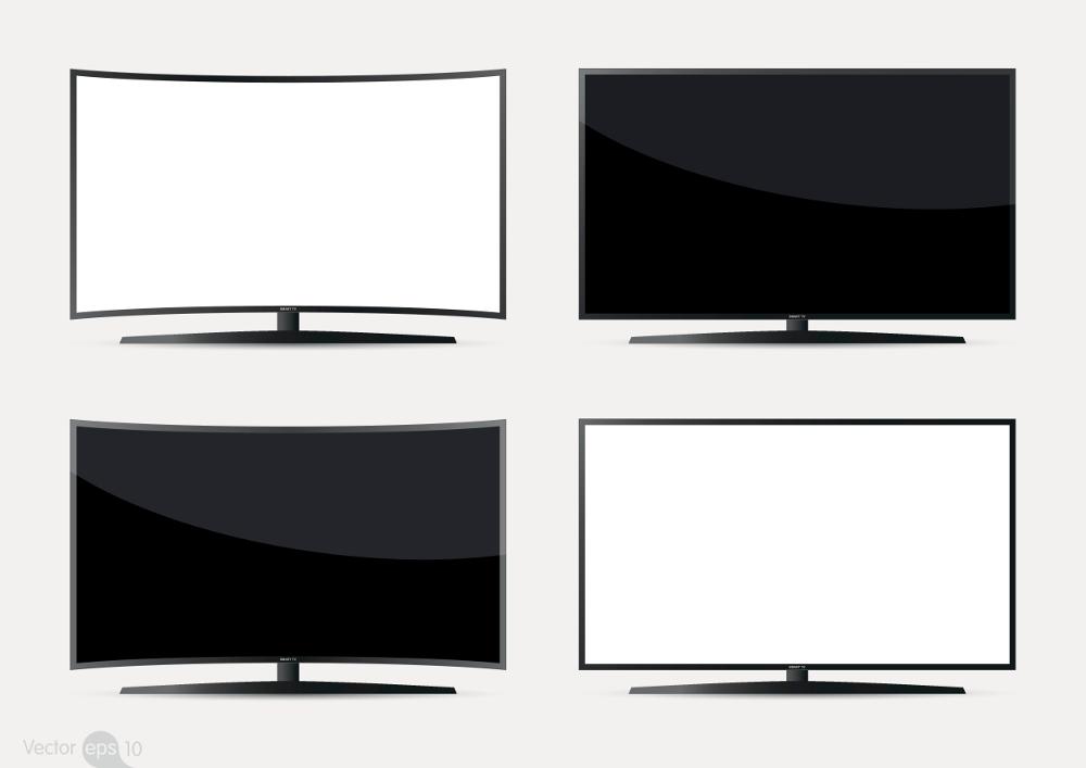 schermo piatto schermo curvo